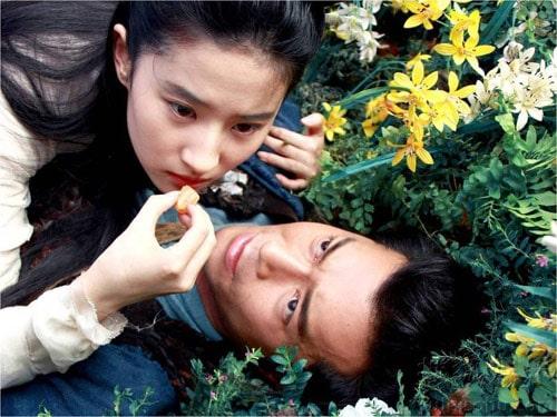Liu Yifei and Louis Koo